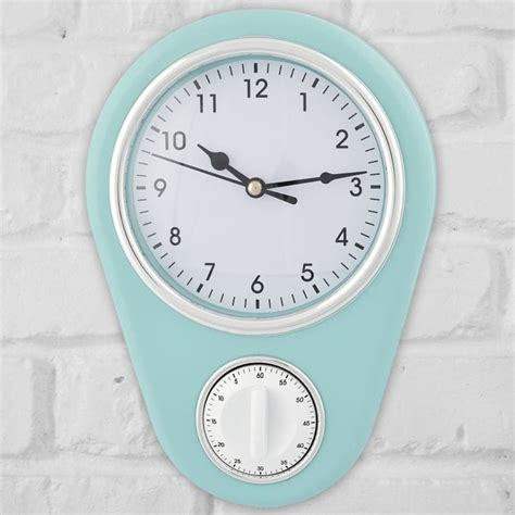 Retro Kitchen Clocks Uk by Retro Kitchen Clock With Timer Find Me A Gift