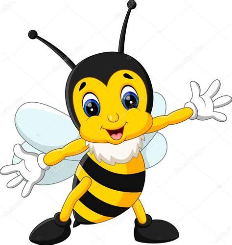 ape clipart illustrazione di cartone animato carino ape vettoriali