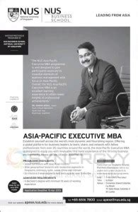 Pacific Mba Result by Asia Pacific Executive Mba By Nus Business School 171 Synergyy