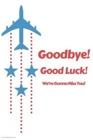 goodbye and luck card template customizable design templates for farewell postermywall