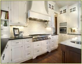 Home improvements refference marble subway tile backsplash kitchen