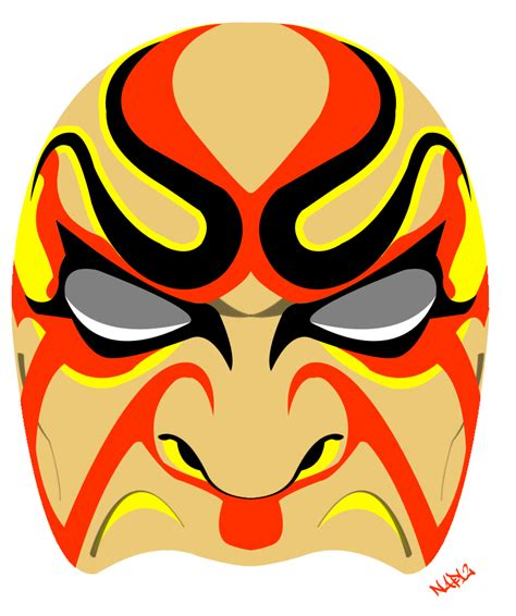 kabuki mask template nappa s photoshop samurai mask vector