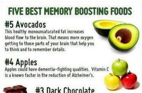 memory rescue supercharge your brain memory loss and remember what matters most books foodista infographic 5 memory boosting foods