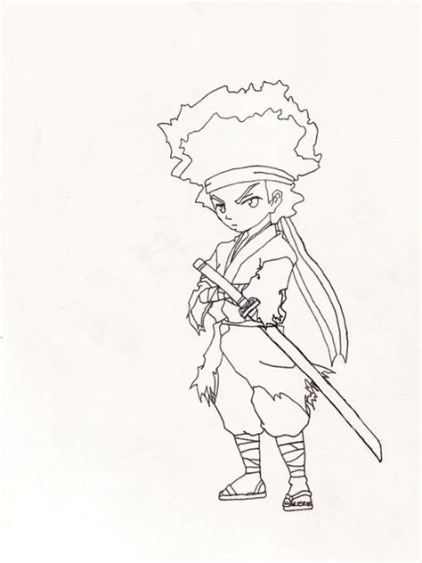 Boondocks Coloring Pages Coloring Home Boondocks Coloring Pages