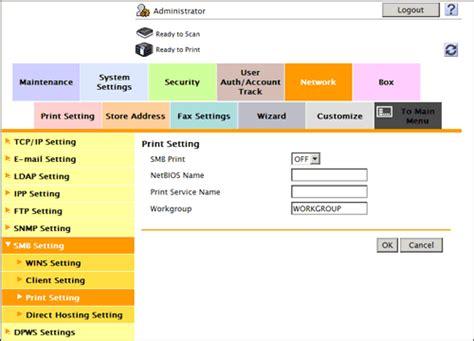 configuring  smb printing environment