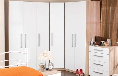 dreams bedroom furniture wardrobes sweet dreams gloss white corner wardrobe by sweet dreams