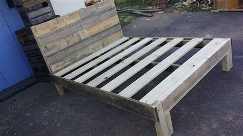 bed frame from pallets pallet bed frame top repurposed pallet chic bed with