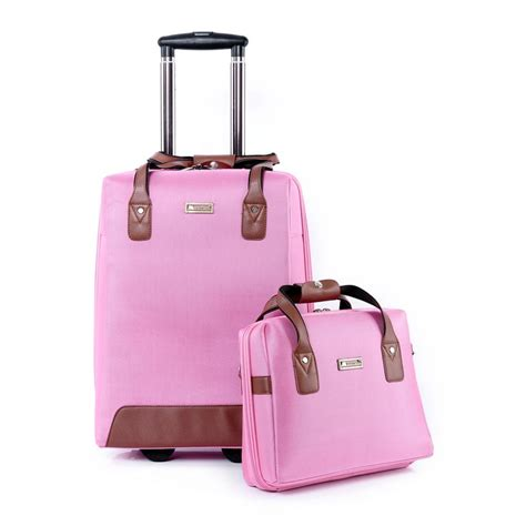 Bag In Bag Set 2 Pcs Pink 2015 new luggage travel bag rolling bag luggage set