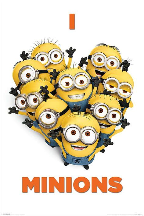 printable minion poster despicable me 2 movie poster print i love minions ebay
