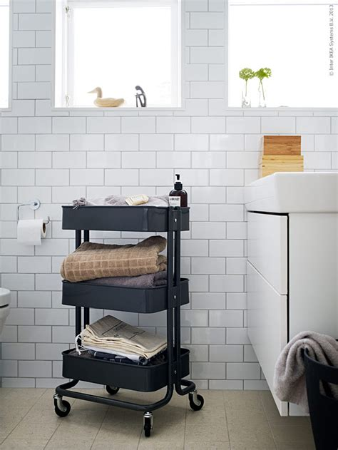 bathroom rolling cart 36 creative ways to use the r 197 skog ikea kitchen cart