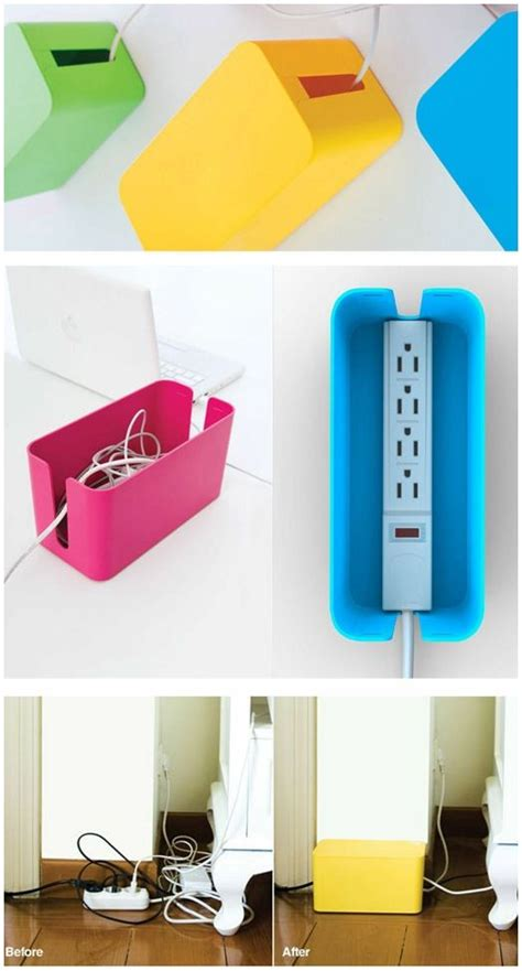 diy power strip box plastic bins power strips and cords on pinterest