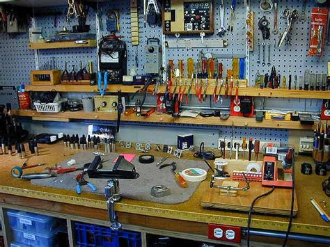 awesome workbench idea for diy garage tool organization