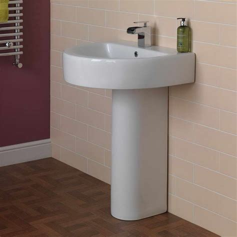 bathroom small pedestal sink installation to save more