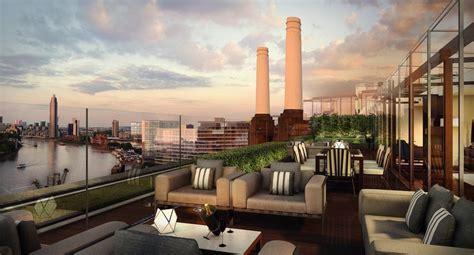 Penthouse Terrace by Battersea Power Station Power Station Penthouse Roof