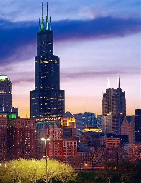willis tower chicago willis tower illinois prairie state pinterest