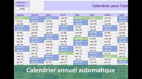 Modele Calendrier Excel