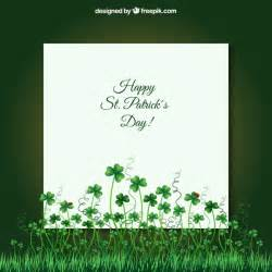 card for st patricks day vector free