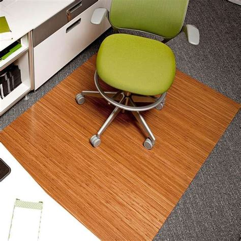Office Floor Rugs Woodsy Office Floor Rugs Bamboo Roll Up Office Mat