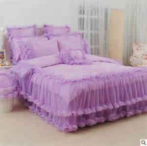 King Size Bed Korea 4pcs 6pcs Purple King Size Comforter Bedding Sets Korean