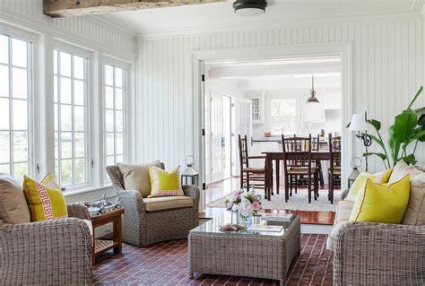 beach style sofas goregous white beach style sunroom with simple rattan