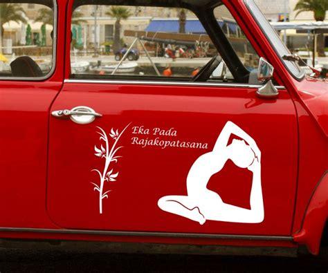 Autoaufkleber Ko by Autoaufkleber Eka Pada Rajakopatasana Yoga Sticker Sport