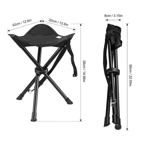 3 legged folding stool with back folding portable 3 legs chair travel tripod stool outdoor