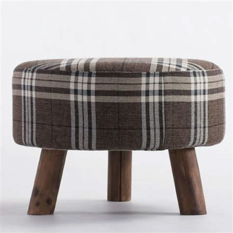 wood legs for ottoman round fabric ottoman sofa stool footstool footrest home