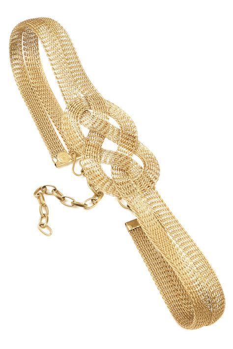 cavender wide braided gold belt from west by
