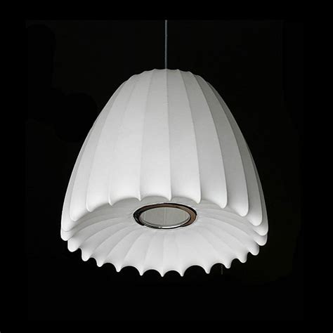 George Nelson Light Fixtures Modern Silk Shade Pendant Lighting George Nelson 9609 Browse Project Lighting And Modern