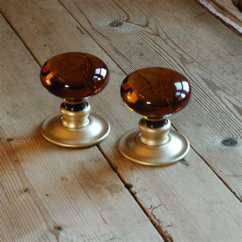 Handmade Glass Door Knobs - handmade glass smooth bun door knobs the period