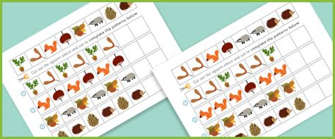pattern activities early years complete the pattern worksheets autumn free early