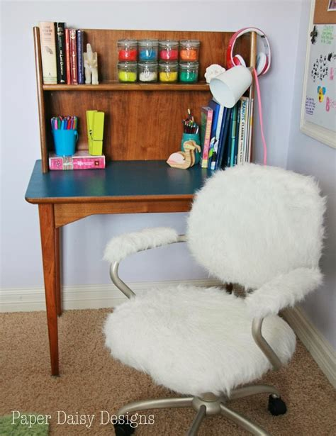 furry desk chair cover furry desk chair pottery barn hack deeplysouthernhome