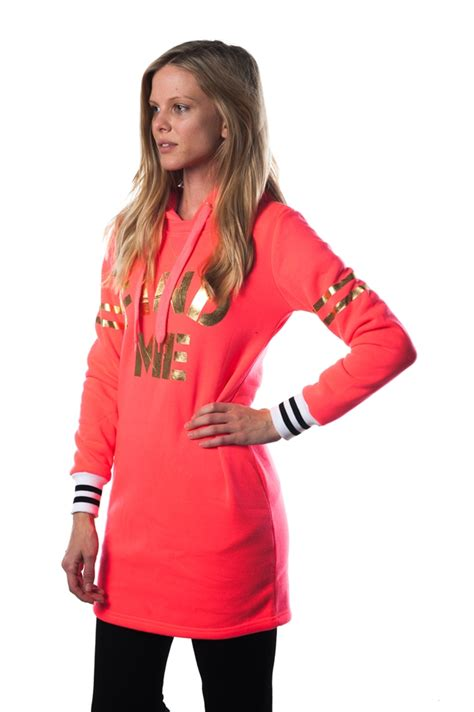 Fhl Dres Denim 3038n fhl 215 coral mini dress hoodie sweatshirt 1 2 2 1