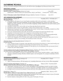 Theater Manager Sle Resume by And Theater Administrator Producer Resume Search 1742