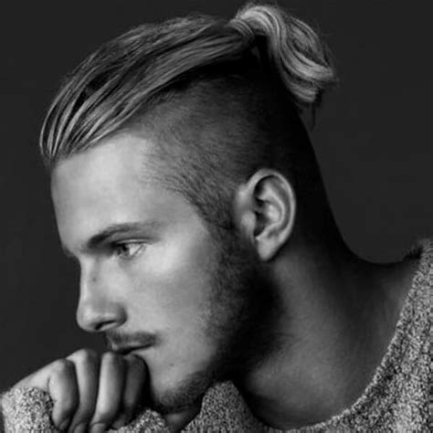 mens hairstyle shaved sides with a pony in back undercut hairstyle for men