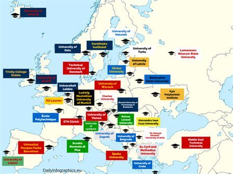 best universities in europe 6 superkule og morsomme kart europa