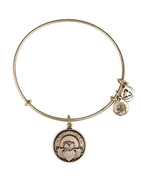 alex and ani bracelet alex and ani claddagh bangle in silver russian silver lyst