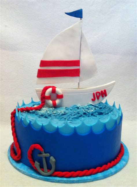 zeilboot emoji sailboat cake for the birthday of a sailing enthusiast yelp