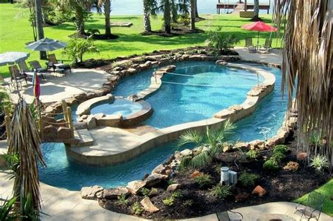 backyard pool with lazy river pin by rhiannon williams on home decor pinterest