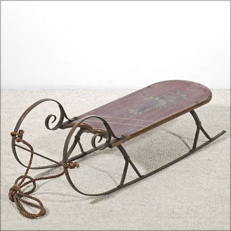 antique cutter sled sleigh with curlicue iron runners