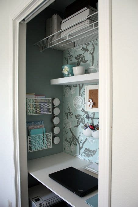 living room turned home office on pinterest offices living closet turned into small office great idea officey