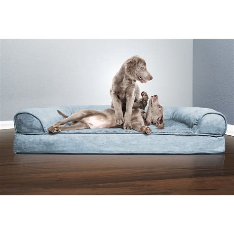 orthopedic dog bed large large dog bed sofa pet luxury plush suede orthopedic