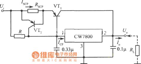 integrated circuit output large current output integrated regulated power supply circuit diagram 2 power supply circuits