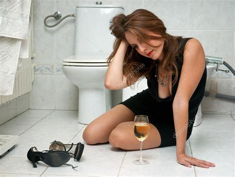 what women do in the bathroom drunk woman in her bathroom stock photo 169 bertys30 22306475