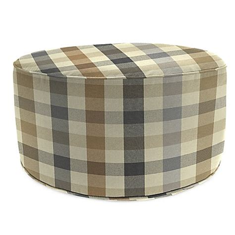round outdoor ottoman outdoor round pouf ottoman in sunbrella 174 connect dune