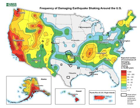 america earthquake zone map earthquake map usa adriftskateshop