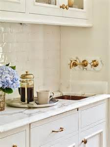 butler pantry with hammered copper sink and wall mount
