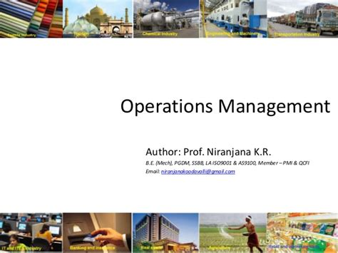 Why Mba In Operations by Mba Om 04 The Of Technology In Operations