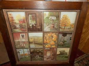 homco home interiors catalog vintage homco home interior window pane picture rustic fall b mitchell primitive folk