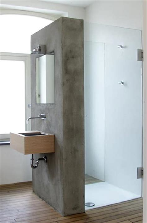 Concrete Shower Walls by Shower With Concrete Wall Deco